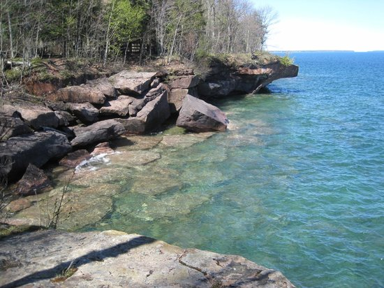Apostle Islands, WI: Hiking Trail along Lake Superior at Big Bay State Park
