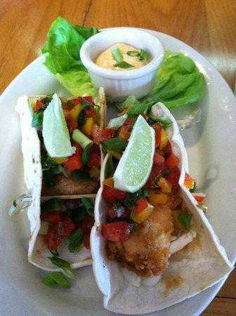 Eclipse : haddock and shrimp tacos