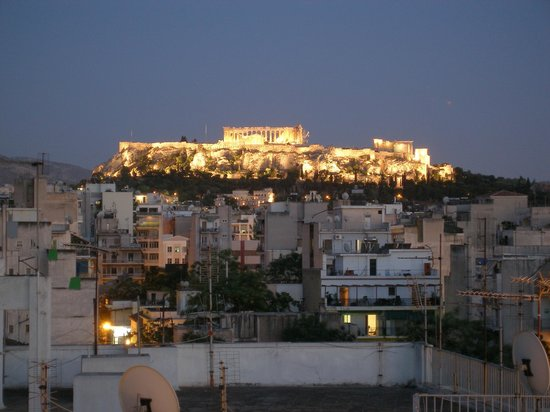 Apollo Hotel: Akropolis from Roof Garden bar