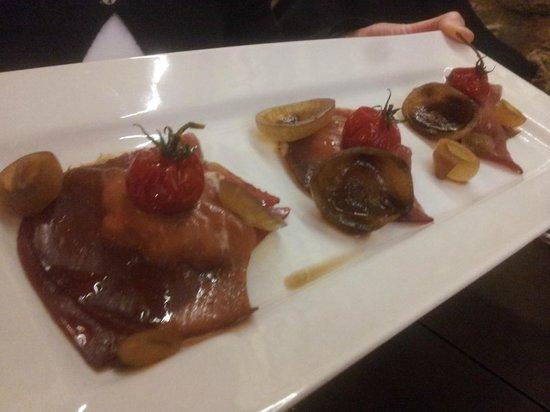 Bellini : raviole bresaola