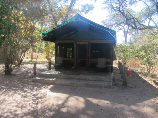 Here is my tent at Elephant Valley Lodge