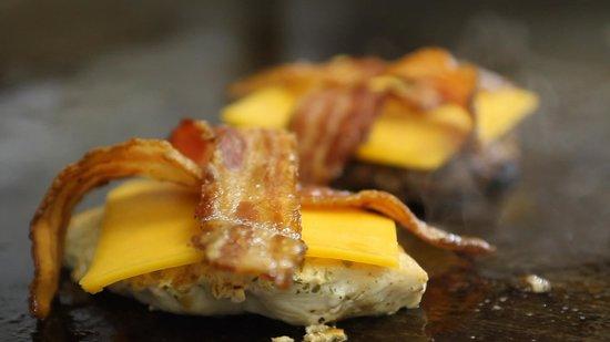 Rancher's Restaurant: Supreme chicken burger in the making