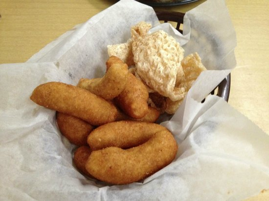 Cooper's Barbecue & Catering: Ahhhh the Hush Puppies & Pork Rinds