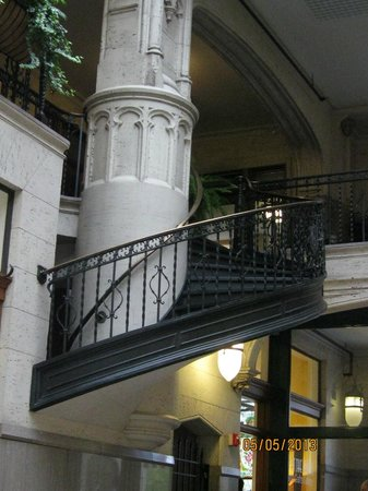 Grove Arcade: A Staircase