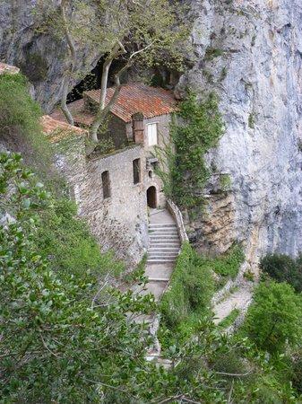 Gorges de Galamus: The hermitage.