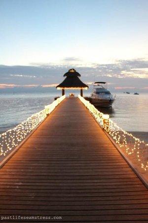 Baros Maldives: Baros jetty on New Year's Eve