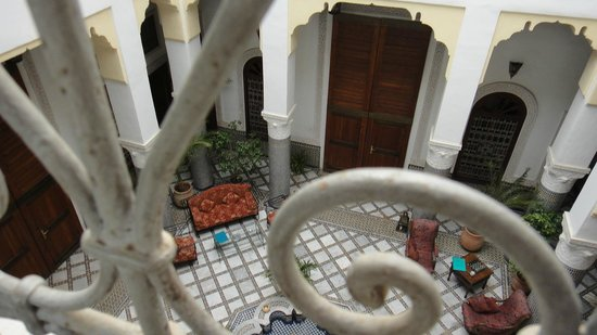 Ryad Mabrouka: From our room looking down into ryad atrium