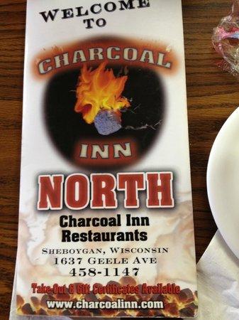 Charcoal Inn North menue