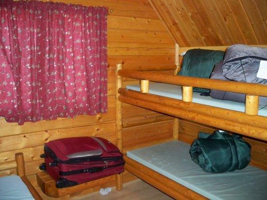 Pueblo KOA: Cabin minus the moths