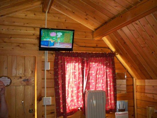 Pueblo KOA: Flat screen TV in cabin