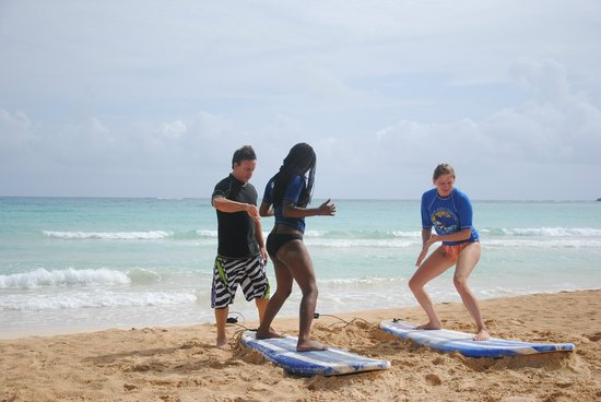 Punta Cana Surf School : beginning of the course
