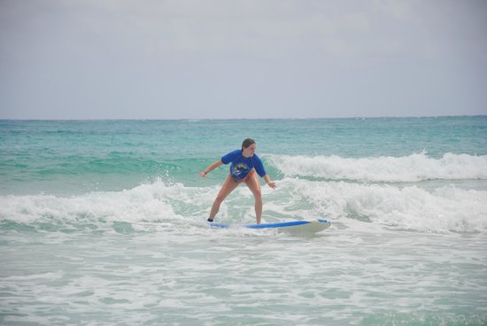 Punta Cana Surf School : me in the waves