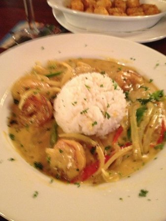The Shannon Rose: Curry Suipear with Shrimp.. Excellent..