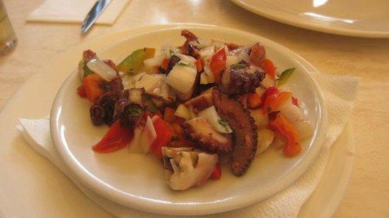 Restaurante Abordo: Pulpo en vinagre.