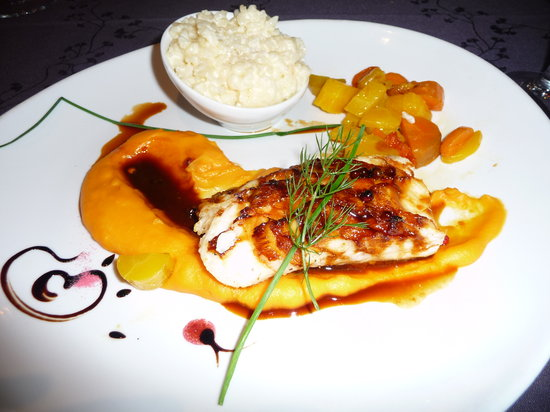 Excellent fish dish picture of restaurant victor hugo for Fish dish menu