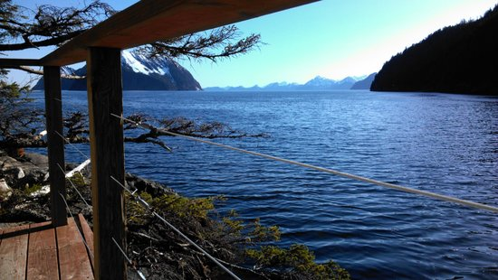 Orca Island Cabins: view from our yurt
