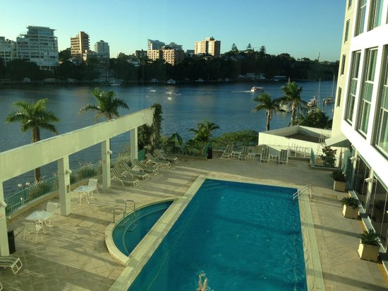 View from my room pool and river picture of stamford for Pool show qld
