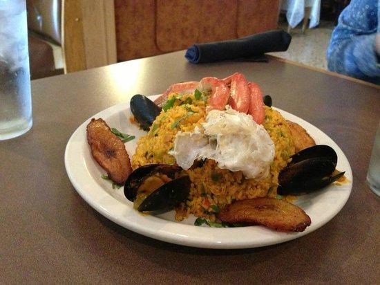 Mi Patria Ecuadorian Restaurant: Seafood and Rice - it was delicious and huge - $12.99