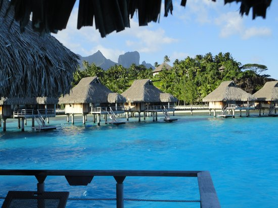 Conrad Bora Bora Nui: View from our overwater bungelow