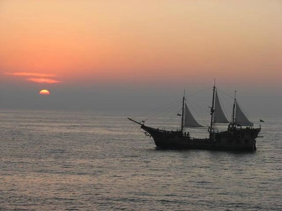 El Pirate Ship every night from your balcony at El Pescadore