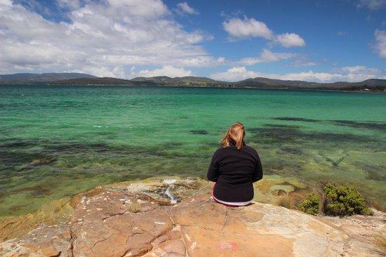 Coal Mines Historic Site: Emerald waters of Norfolk Bay