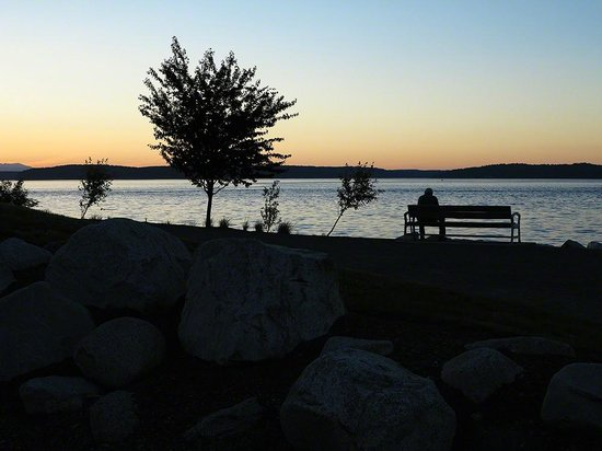 Tacoma Chinese Park : Twilight on Puget Sound