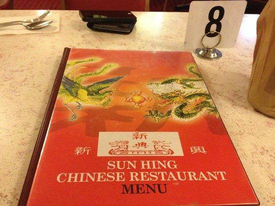 Sun Hing: menu