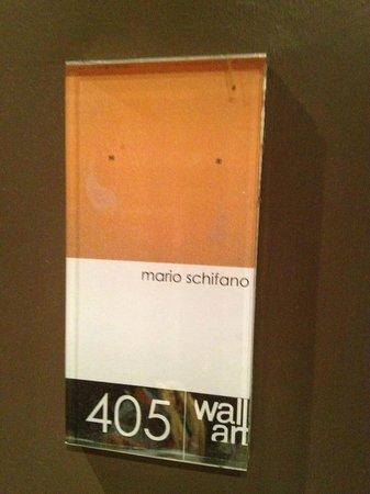 Wall Art Aparthotel Prato: Room sign