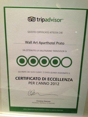 Wall Art Aparthotel Prato: Winner of Tripadvisor Award