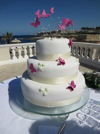 Quadro Restaurant at The Westin Dragonara Resort: Wedding Cake