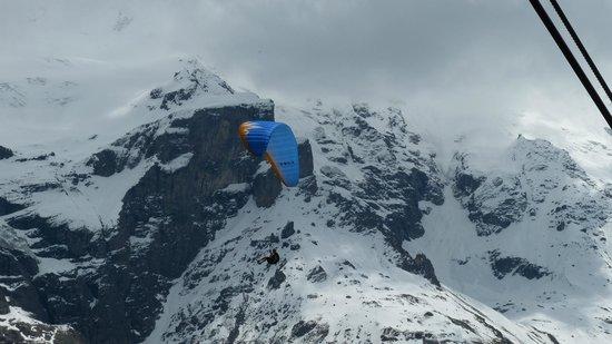 بودمي: Para-Glider on Schilthorn