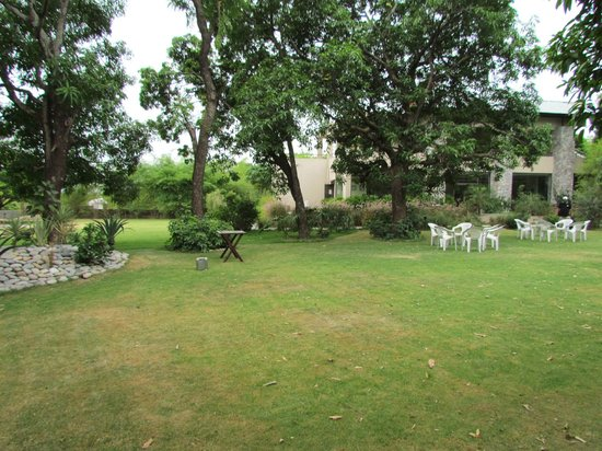 Country Club Wild Exotica Corbett: View from lawn