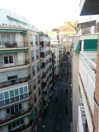 Hotel Cervantes : View from 6th floor looking east