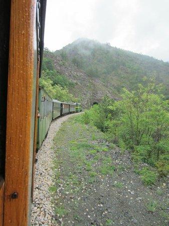 Sargan Eight Railway: The Sargan Eight train cruising along