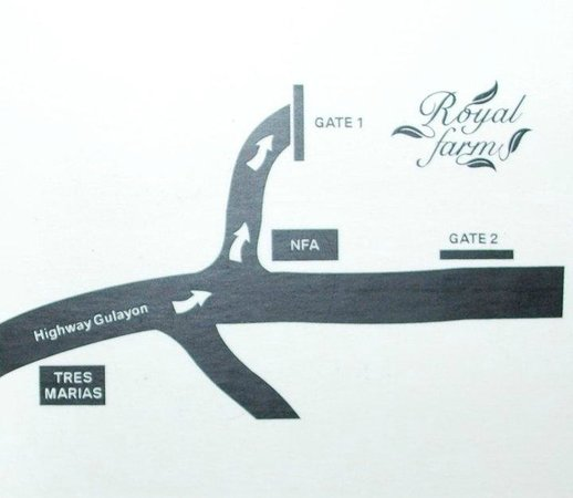 Royal Farm Resort: Directional Map
