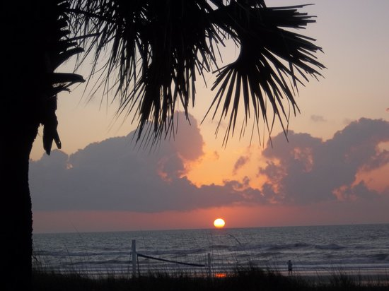 Hampton Inn Jacksonville Beach/Oceanfront: Sunrise from first floor room