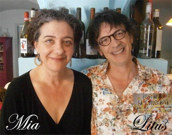 Restaurant La Cooperativa: The owners Mia and Litus