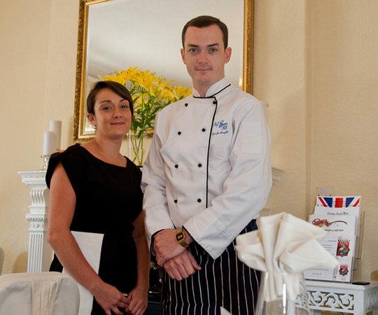 Chef Sam at 33: Chef Sam and Head waitress Danielle