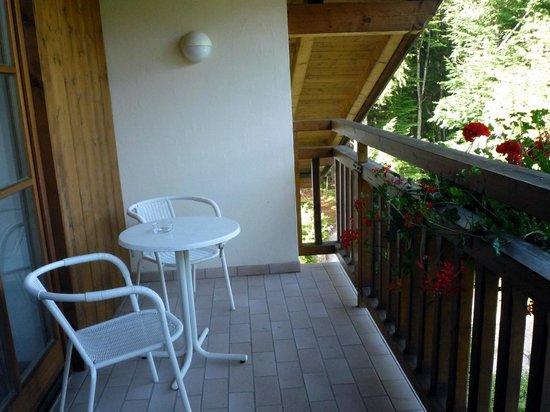 Hotel am Badersee: unser Balkon