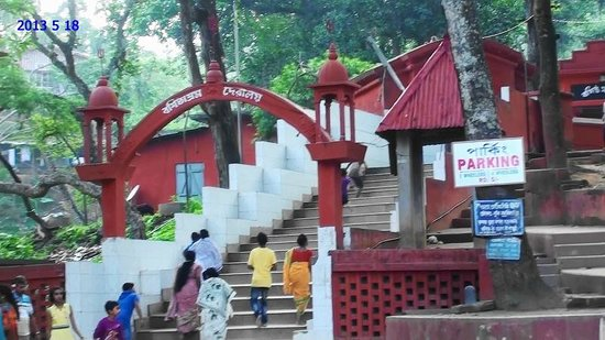 Guwahati, India: The stairs leading to the main temple