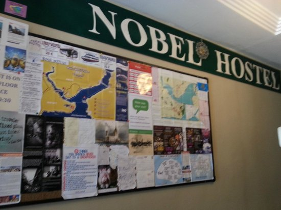 Nobel Hostel: lobby area