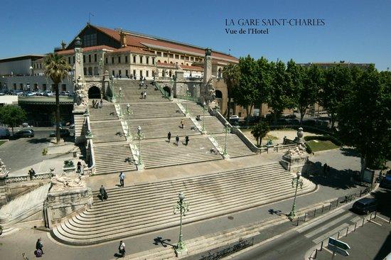 Hotel Terminus Saint Charles : Gare Saint Charles vue de l'hôtel