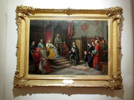 Museo Revoltella: L'imperatore Federico III ritratto insieme al poeta triestino Raffaele Zovenzoni