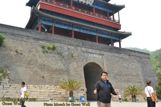 Changping Ancient Great Wall of Yan Ruins : Pintu masuk ke great wall