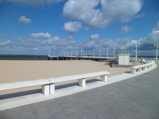 Jetée Thiers : vue de la plage d'arcachon