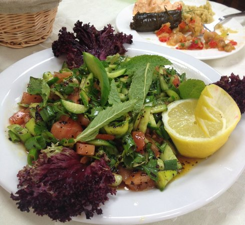 Salad with pomegranate dressing.: fotografía de Oz Urfa, Cardiff ...