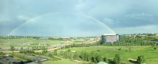 Omni Interlocken Hotel: Enjoyed the rainbow from my room's view...