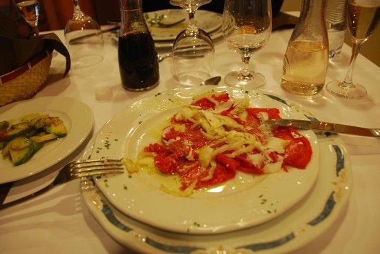 Hotel Munin: Carne all'albese... affogata nell'olio...