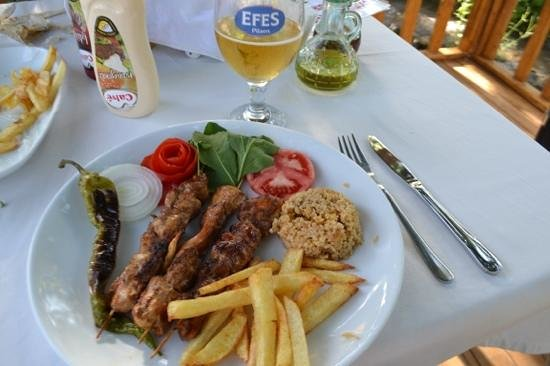 Bodamya Tepe Restaurant: The delicious chicken shish.
