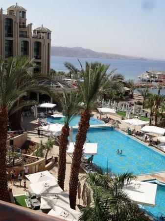 Queen of Sheba Eilat : Hilton West Wing View/Gulf of Aquaba